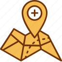 address, hospital, location, map, medical, pgs, place icon