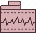 cardiology, ecg, heart, medical, medicine, rate, tape icon