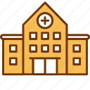 address, clinic, healthcare, hospital, location, medical, office icon