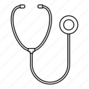 care, hospital, line, medical, medicine, outline, phonendoscope icon