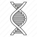 biology, chemistry, dna, gene, health, line, outline icon