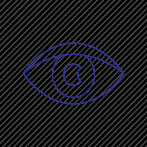 anatomy, biology, eye, look, medicine, view, watch icon icon