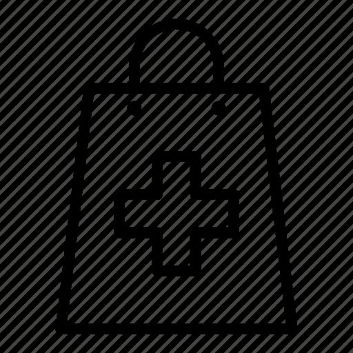 bag, ecommerce, medication, medicine, pharmacy, purchase, shopping icon