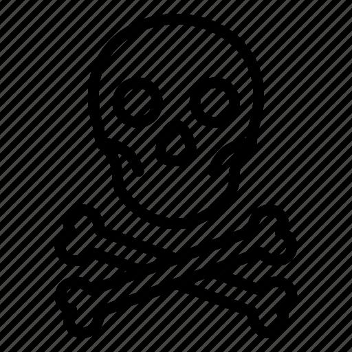 Bones, danger, pirate, skull, toxic, caution, warning icon - Download on Iconfinder
