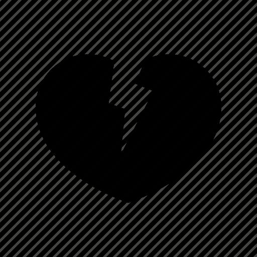 broken heart, cardiology, heart attack, love, medicine, pain, shock icon