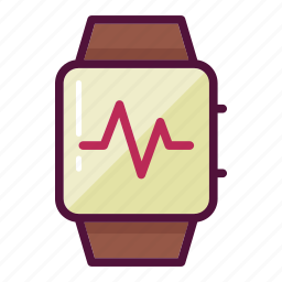 activity, cardio, heart, heartbeat, monitor, watch, wrist watch icon
