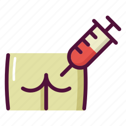 ass, injection, medicine, patient, pharmacy, syringe, treatment icon