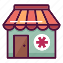 clinic, dragstore, first aid, healthcare, hospital, medicine, pharmacy icon