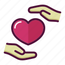 hand, health, healthcare, heart, hospital, medicine, valentine icon