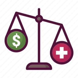 balance, health, healthcare, important, medicine, money, scales icon