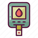 blood, blood test, diabetes, diabetic, healthcare, leukocyte, sugar icon