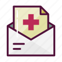 bill, email, envelope, hospital, inbox, letter, mail icon