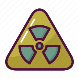 attention, biohazard, danger, hazard, radiation, toxic, warning icon
