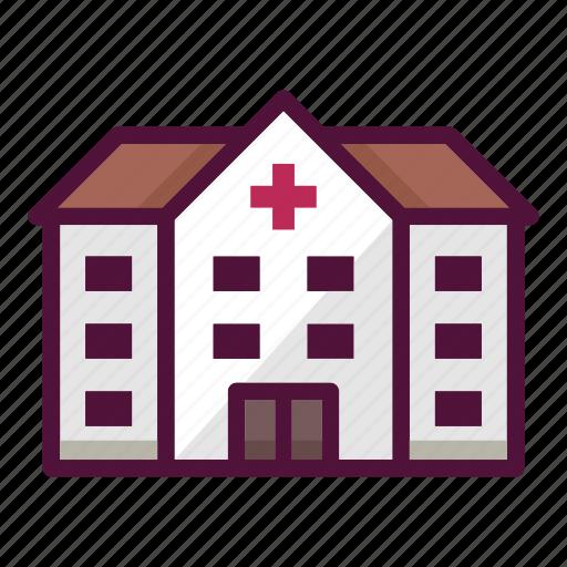 building, clinic, construction, healthcare, hospital, medicine, pharmacy icon