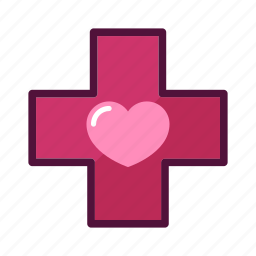 cross, doctor, healthcare, heart, hospital, medical, medicine icon