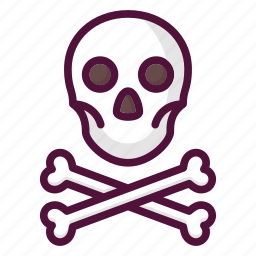 bones, caution, danger, pirate, skull, toxic, warning icon