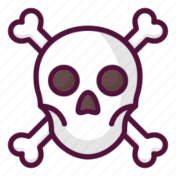 anatomy, caution, crossbones, danger, poison, skull, warning icon