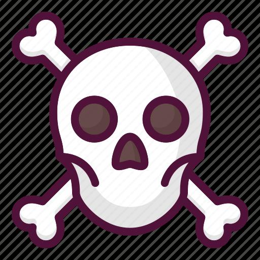anatomy, caution, crossbones, danger, poison, skull, warning icon