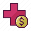 doctor, dollar, medicine, money, paid, payment, pharmacy icon
