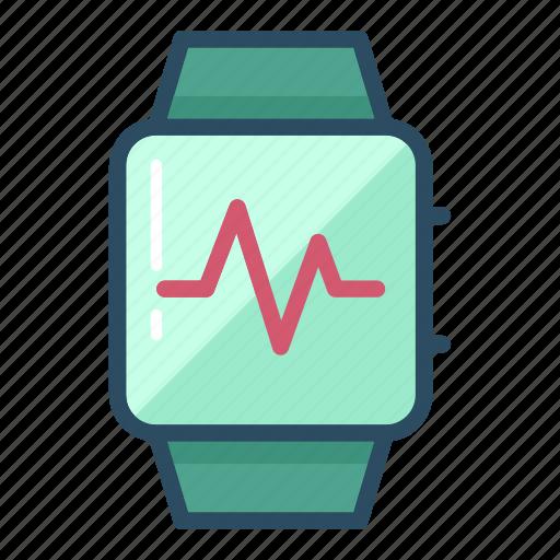activity, cardio, heart, heartbeat, monitor, watch, wrist watch icon