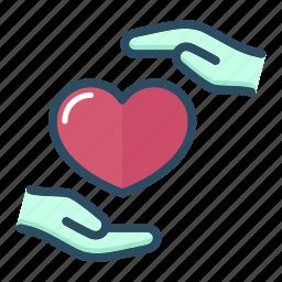hand, health, healthcare, heart, hospital, medicine, valentine icon
