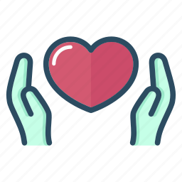 hands, health, healthcare, heart, hospital, medicine, valentine icon