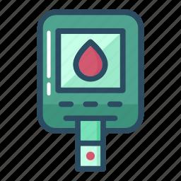 blood, diabetes, diabetic, leukocyte, research, sugar, test icon