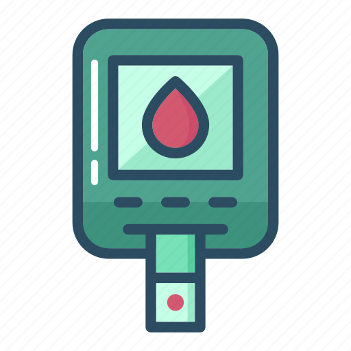 blood, diabetes, diabetic, leukocyte, research, sugar, test icon