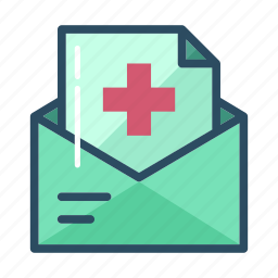 bill, email, envelope, hospital, letter, mail, message icon
