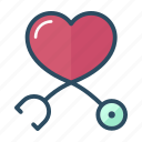 cardiology, health, healthcare, heart, hospital, medicine, phonendoscope icon