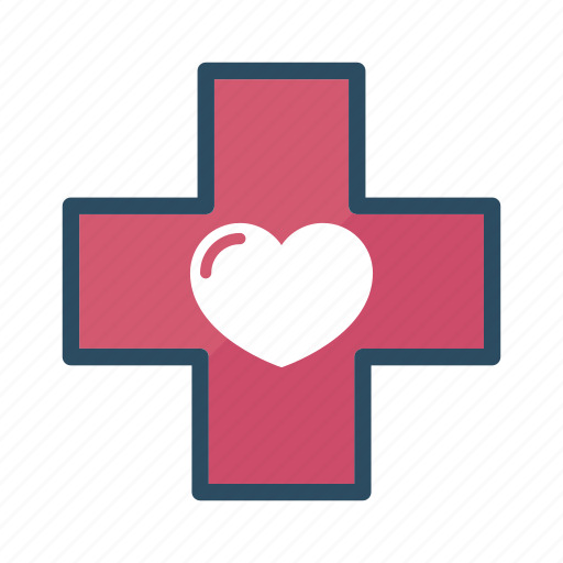 cross, health, healthcare, heart, hospital, medical, medicine icon