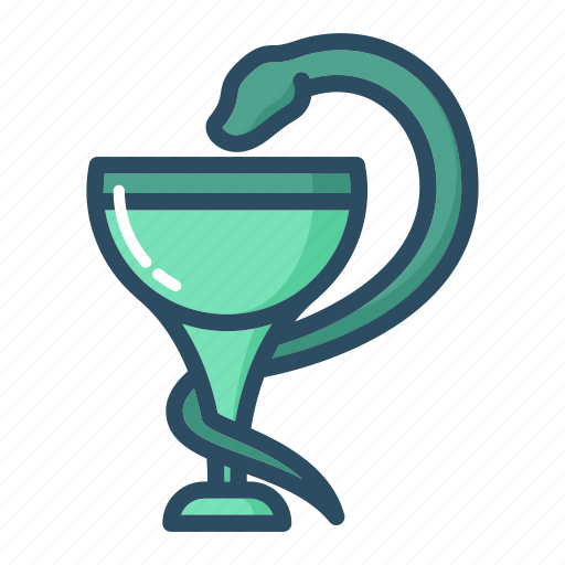 Bowl, chalice, hygiene, pharmacy, snake, healthcare, medicine icon - Download on Iconfinder