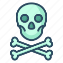 attention, bones, danger, pirate, skull, toxic, warning icon