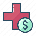 doctor, dollar, healthcare, medicine, money, paid, pharmacy icon