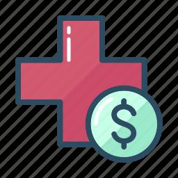 doctor, dollar, healthcare, medicine, money, paid, pharmacy icon