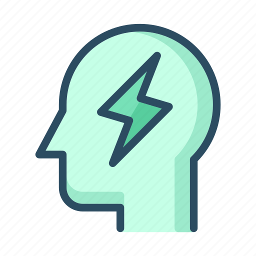 battery, energy, headache, idea, lightning, power, robot icon
