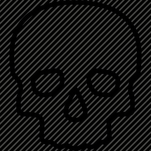 danger, dead, death, head, poison, skull, toxic icon