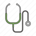 doctor, hospital, medicine, stethoscope icon icon
