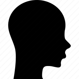 patient, profile, silhouette, woman icon