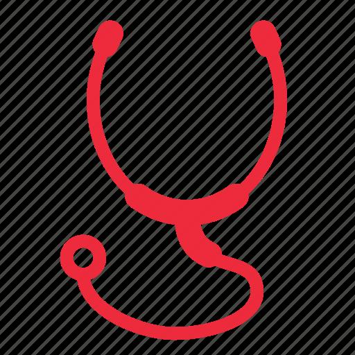 health, heartbeat, medical, stethoscope icon