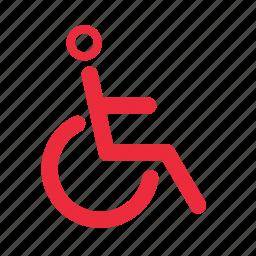 facility, hospital, moving, wheelchair icon