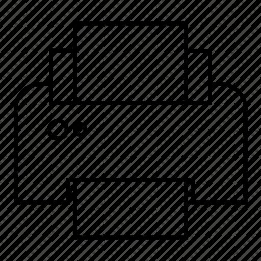 fax, output, print, printer, printer icon icon