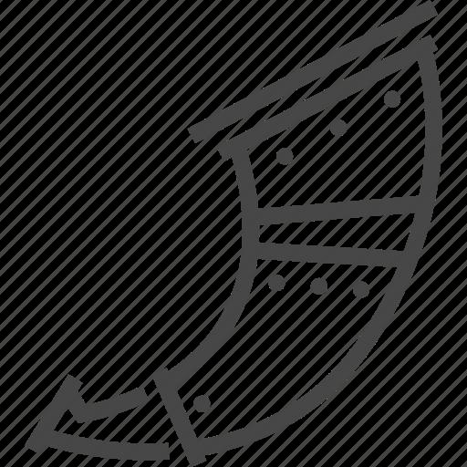 antique, horn, instrument, medieval, trumpet, viking icon