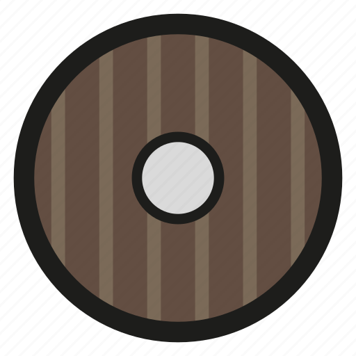 game, round, shield, wood icon