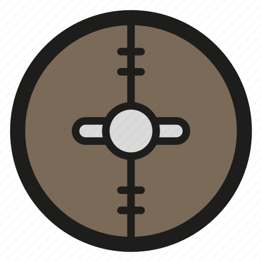 game, leather, round, rpg, shield icon