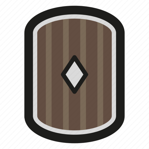 game, rpg, shield, wooden icon