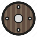 game, round, rpg, shield, viking icon