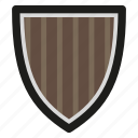 game, medieval, shield, wood icon