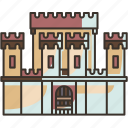 fortress, wall, stronghold, defense, castle