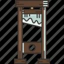guillotine, blade, execution, death, behead